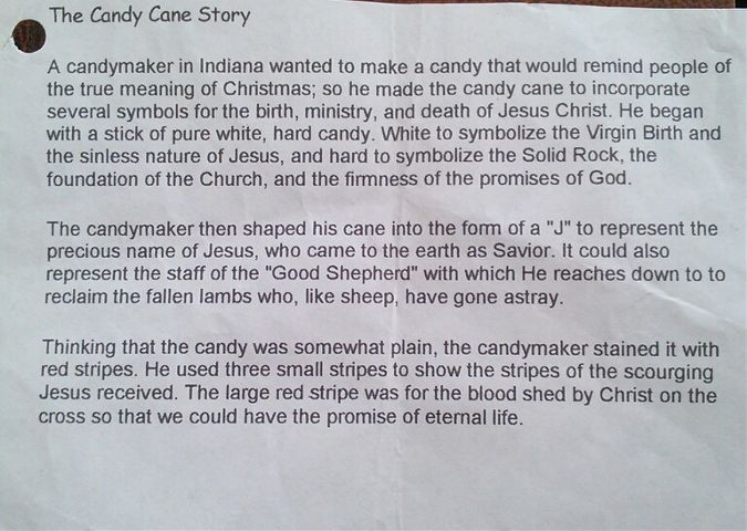 THE CANDY CANE STORY.