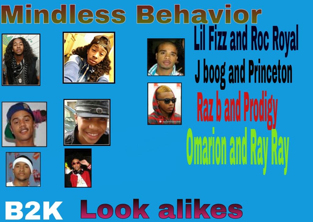 B2K and MINDLESS BEHAVIOR look alikes... B2k And Mindless Behavior