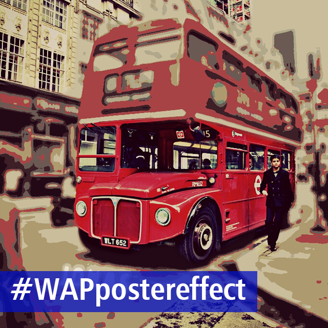 Turn your life into a poster with the poster photo effect for Weekend art projects