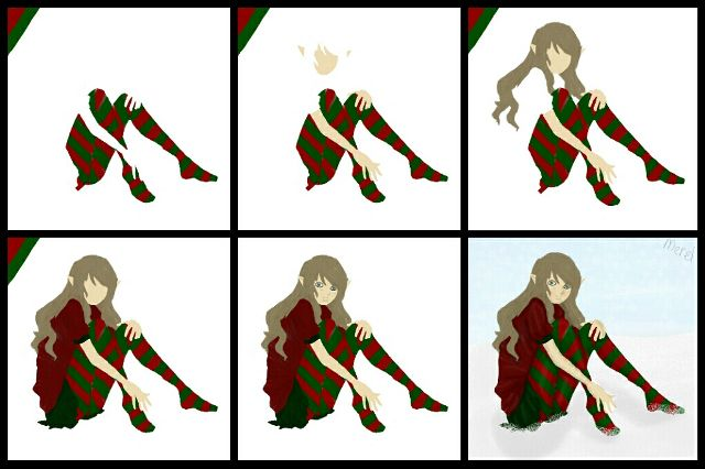 how to draw stealth elf step by step