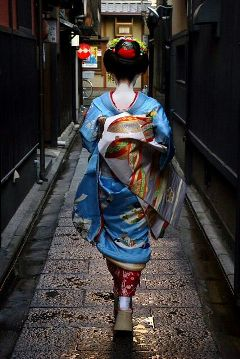 japan geisha asian beautiful kimono