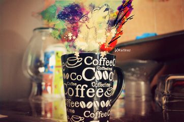 emotions colorful coffee wolf creative