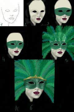 drawing draw mask carnaval drawstepbystep