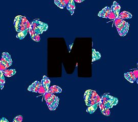 monogram colorful