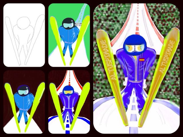 how to draw Olympic games with PicsArt Drawing Tools