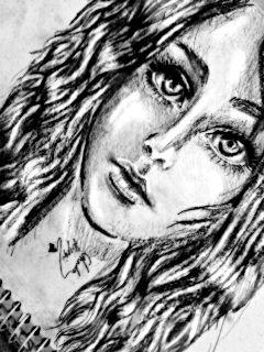 drawing pencil art art black & white portrait pencil