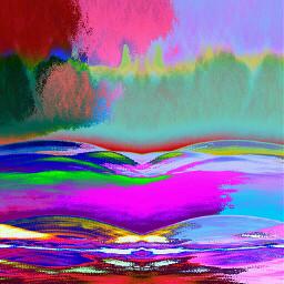 colorful hdr pencil art rain