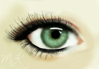 colorful drawing eye