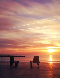 dawn red mediterranean loneliness sun