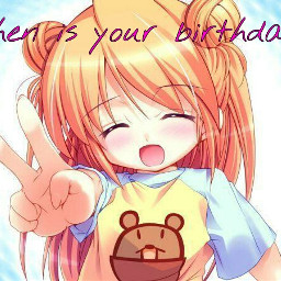 anime cute people emotions birthday question