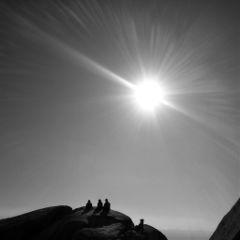 korea black & white nature people sunset