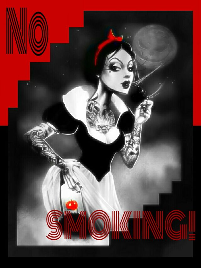 no smoking ad graphic design