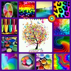 collage colorful