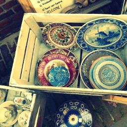 antique plates vintage holland crossprocess