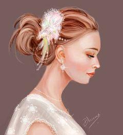 drawing bride color splash emotions girl