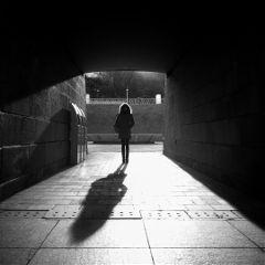 black & white korea people architecture travel