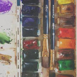 color splash paints cute colorful vintage summer